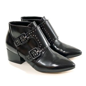 French connection 5.5 Roree studded black booties